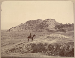 'Emankot', Buddhist hill east of Bassaule.